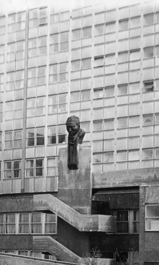 Χειρουργός, 1970, σφυρήλατος χαλκός, ύψος 500 εκ., Νοσοκομείο της πόλης Καζιμπάρτσικα, Ουγγαρία