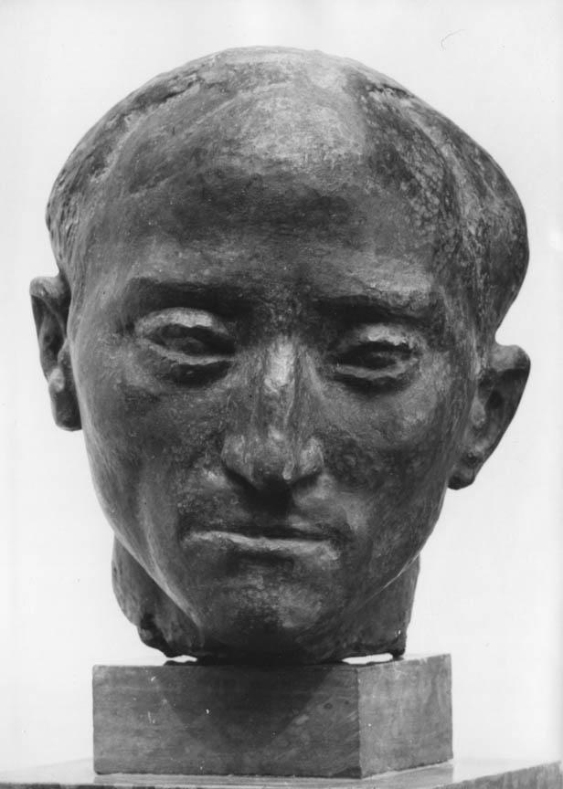 Πορτρέτο του ιστορικού Ν. Σβορώνου, 1949-50, μπρούτζος, ύψος 30 εκ., ιδιωτική συλλογή