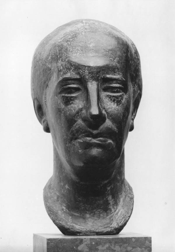 Προτομή του Πωλ Ελυάρ, 1950, μπρούτζος, ύψος 60 εκ., Μουσείο Τέχνης, Saint Denis, Γαλλία