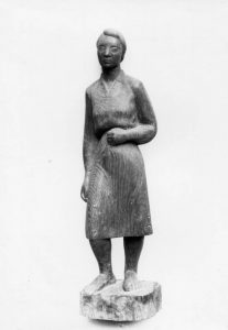 Ξυλόγλυπτο της Β.Χ., 1949, ξύλο, ύψος 65 εκ., ιδιωτική συλλογή