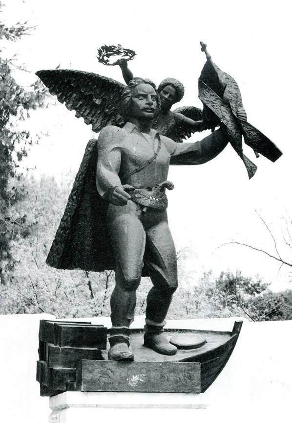 Εμμανουήλ Παπάς, 1989, μπρούτζος, πάρκο ΧΑΝΘ, Θεσσαλονίκη