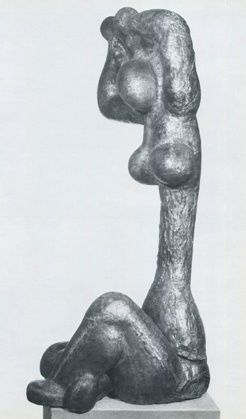Μεγάλη φιγούρα, 1970, σφυρήλατος χαλκός, ύψος 150 εκ., ιδιωτική συλλογή, Αθήνα
