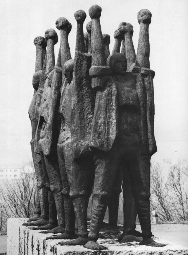 Μνημείο των Ούγγρων μαρτύρων του Μαουτχάουζεν, χαλκός, 1959-62, στρατόπεδο Μαουτχάουζεν, Αυστρία