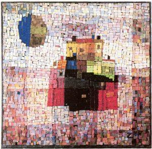 Στο φως του ήλιου, δεκαετία του 1970, ψηφιδωτό, 55 x 60 εκ., ιδιωτική συλλογή
