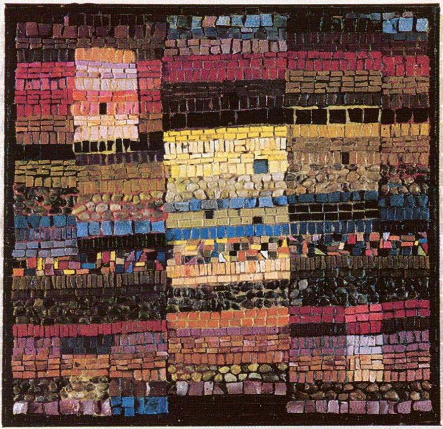 Τα τείχη του κάστρου Ι, δεκαετία του 1970, ψηφιδωτό, 55 x 60 εκ., ιδιωτική συλλογή