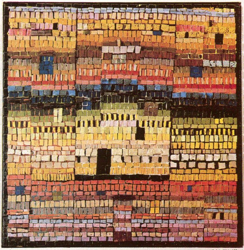 Σπίτια του πύργου, δεκαετία του 1970, ψηφιδωτό, 55 x 60 εκ., ιδιωτική συλλογή