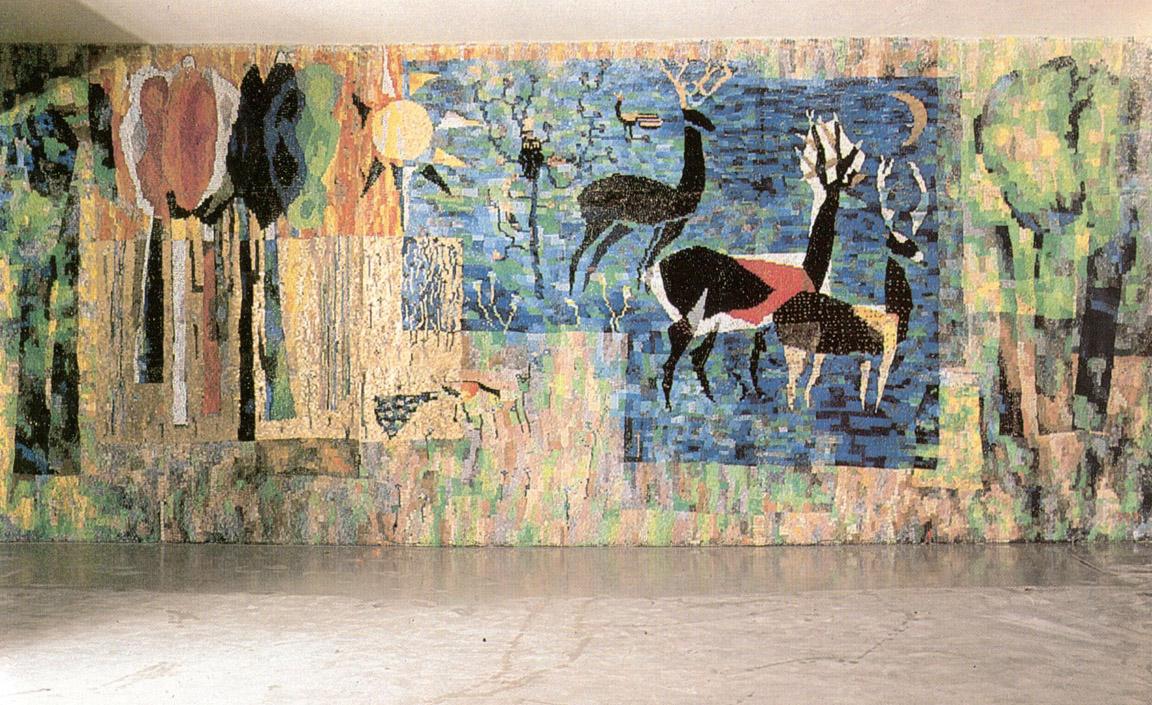 Παραμύθι για το δάσος, 1965-67, ψηφιδωτό, Γυμνάσιο του Ερντ