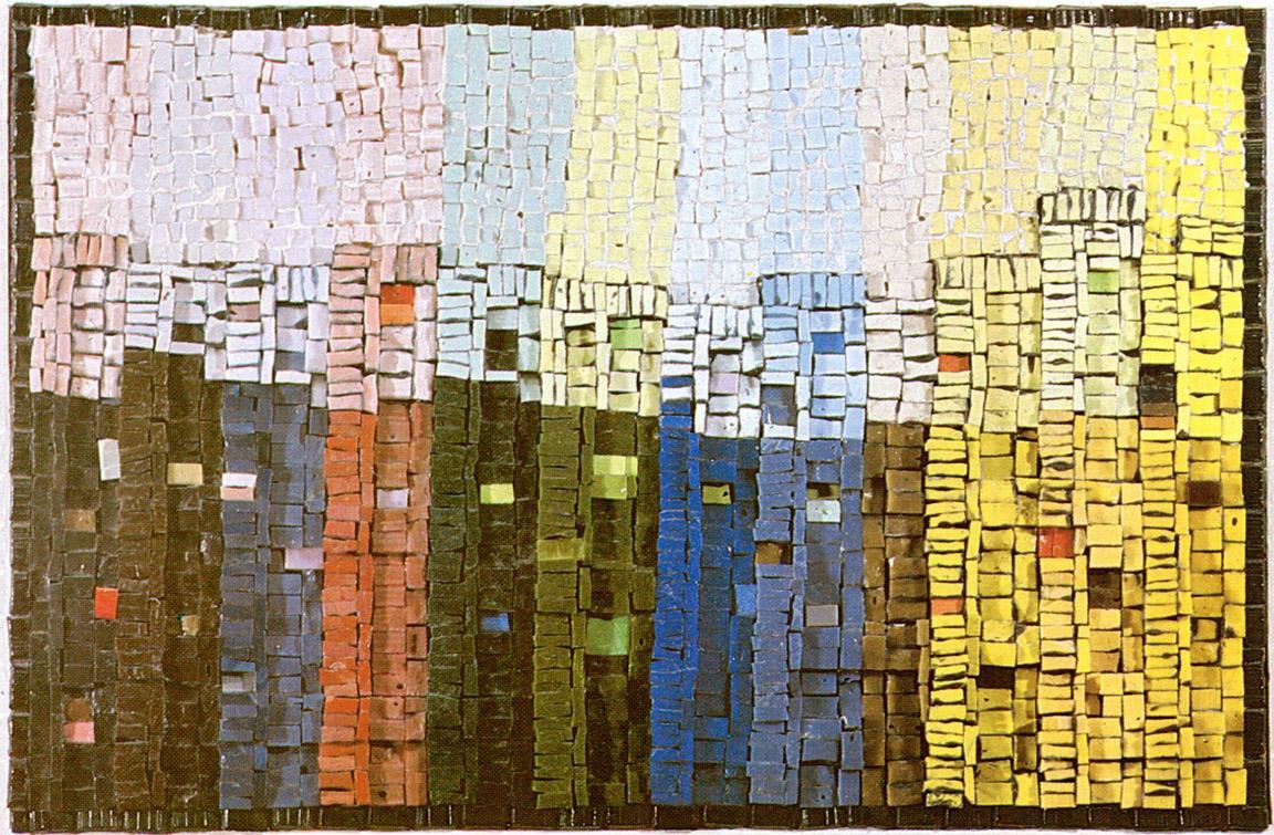 Αντικατοπτρισμοί, 1970, ψηφιδωτό, 40 x 55 εκ., ιδιωτική συλλογή