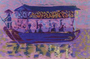 Μικρό ποταμόπλοιο Ι, περ. 1957-62, παστέλ σε χαρτί, 22,7 x 33,5 εκ., ιδιωτική συλλογή