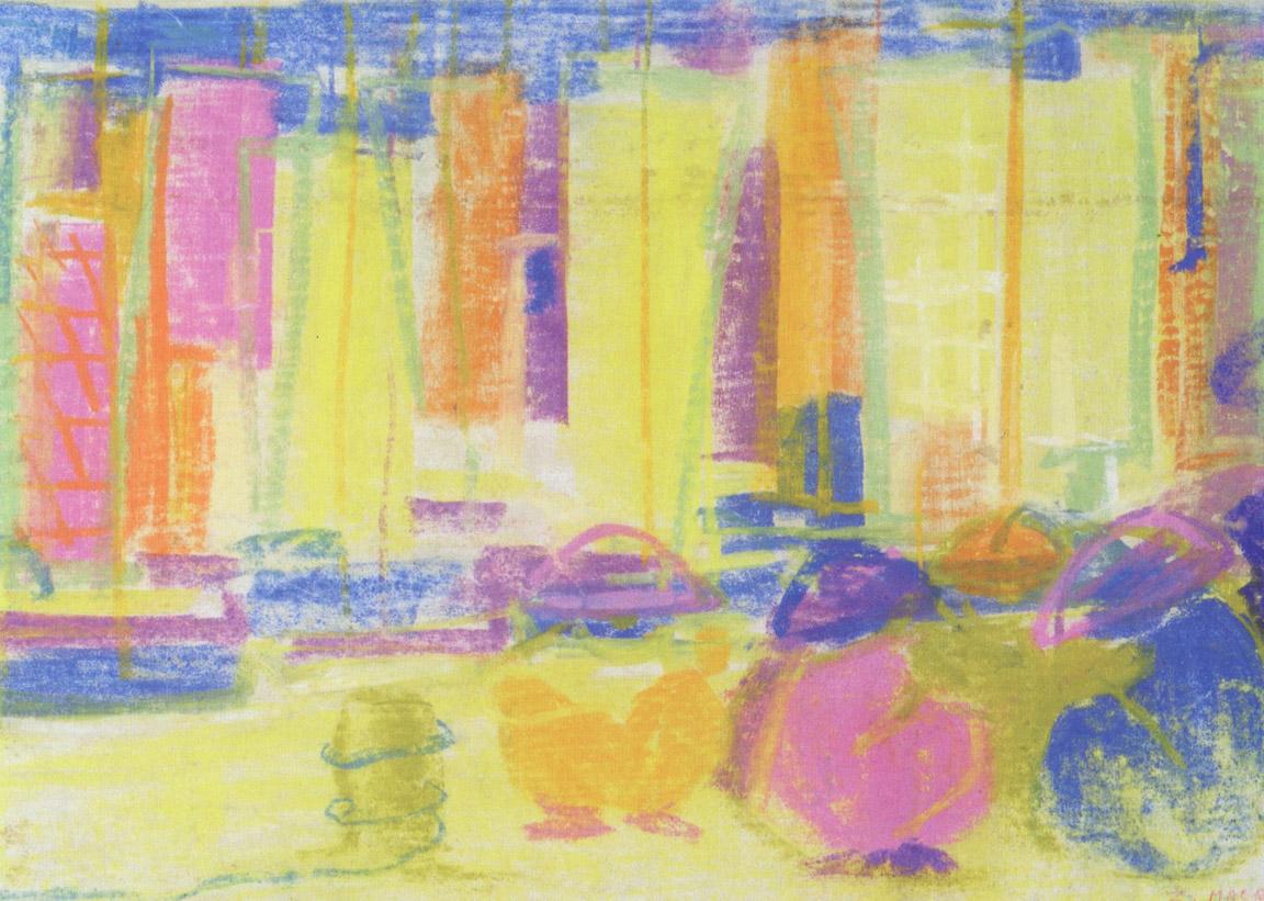 Καράβια, περ. 1957-62, παστέλ σε χαρτί, 27 x 37 εκ., ιδιωτική συλλογή