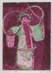 Όπερα ΙΙ, αντριός ρόλος , 1956-58, έγχρωμη ξυλογραφία, 22 x 17 εκ.