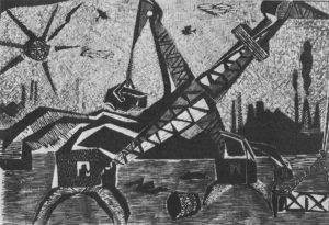 Τσέπελ, 1958-60, ξυλογραφία, 37,4 x 58 εκ.