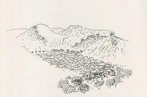Κρήτη, 1978, μελάνι σε χαρτί, 29,3 x 40 εκ., ιδιωτική συλλογή